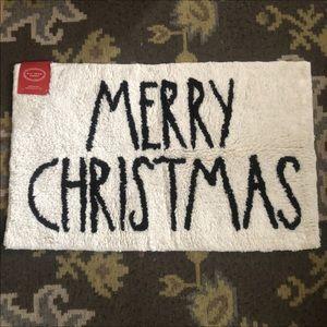 Rae Dunn merry Christmas bath mat black letters